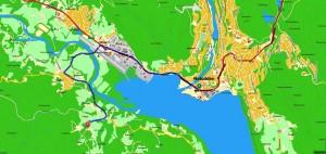 Kart til Tveitanbakken